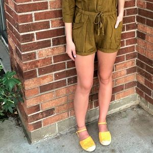 Yellow Old Navy Loafer Sandal